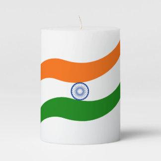 Indian undulating flag pillar candle