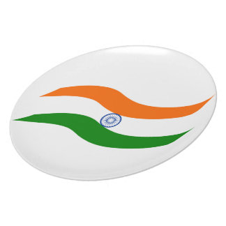Indian undulating flag plate
