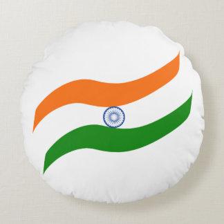 Indian undulating flag round pillow