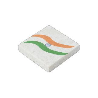 Indian undulating flag stone magnet