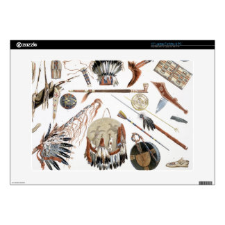 """Indian Utensils and Arms, plate 48 from Volume 2 o 15"""" Laptop Skins"""