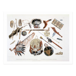 Indian Utensils and Arms plate 48 from Volume 2 o Postcards