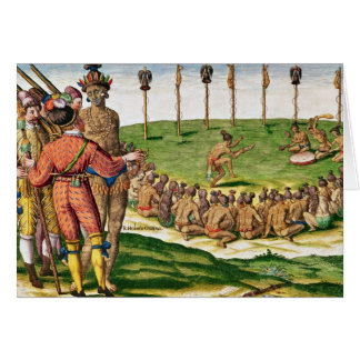 Indian Victory Ceremony, from 'Brevis Cards