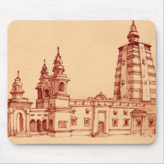 Indian Vihara Hindu architecture Mouse Pad