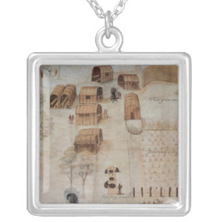 Indian Village of Secoton Silver Plated Necklace
