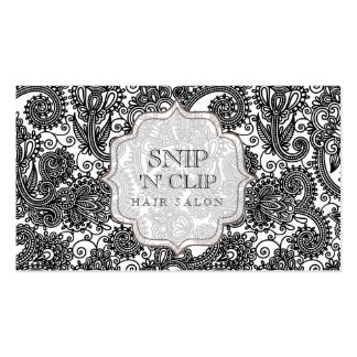 Indian Vintage Paisley Hair Stylist Salon Double-Sided Standard Business Cards (Pack Of 100)