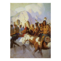 Indian War Party by NC Wyeth print
