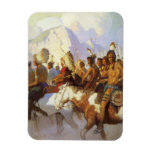 Indian War Party by NC Wyeth, Vintage Western Art Flexible Magnet