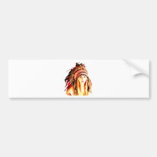 Indian warrior bumper sticker