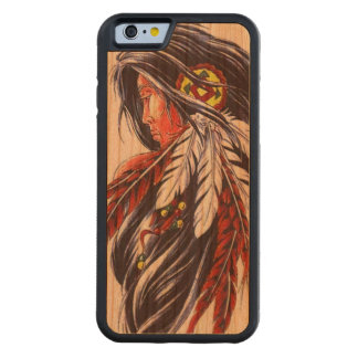 """Indian Warrior"" Cherry Wood IPhone 6 Case"