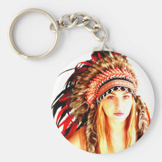 Indian warrior keychain