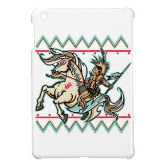 Indian Warrior on Horse iPad Mini Covers