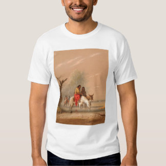Indian Watering their Mounts (1068A) T-Shirt