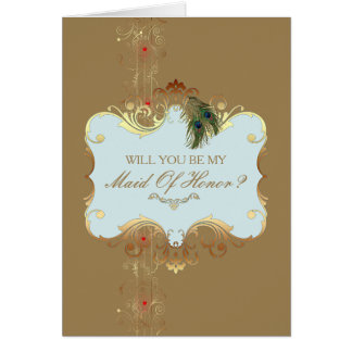 Indian Wedding II - Maid Of Honor Card