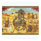 Indian wedding procession on camels card