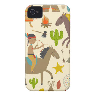 Indian wild duck cowboy.jpg iPhone 4 cover