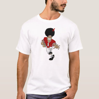 indian with afro 1, hair pick T-Shirt