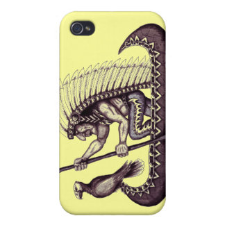 Indian with eagle graphic art cool iphone case