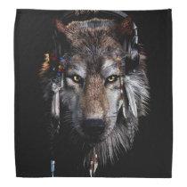 Indian wolf - gray wolf bandana