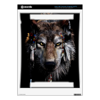 Indian wolf - gray wolf decals for the xbox 360