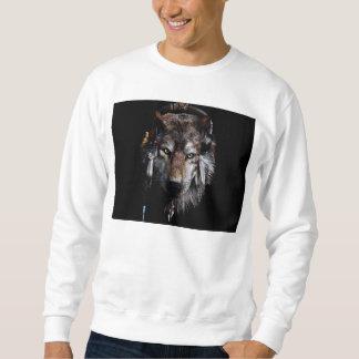 Indian wolf - gray wolf sweatshirt