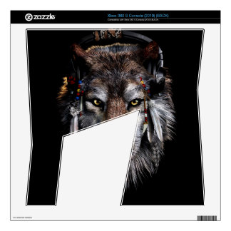 Indian wolf - gray wolf xbox 360 s console skin
