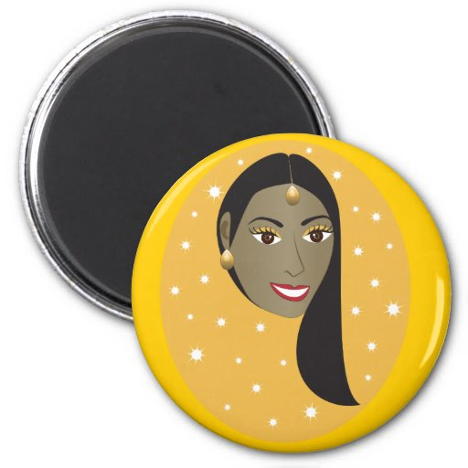 Indian Woman.ai 2 Inch Round Magnet