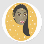 Indian Woman.ai Classic Round Sticker
