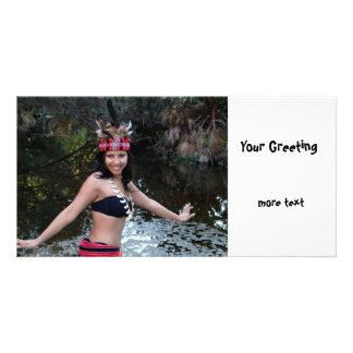 Indian Woman Dancing Card