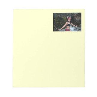 Indian Woman Dancing Notepad