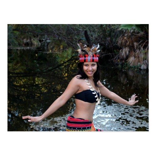 Indian Woman Dancing Postcard
