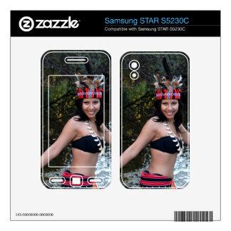 Indian Woman Dancing Samsung STAR S5230C Skins