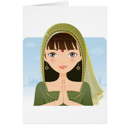 Indian Woman Greeting Card