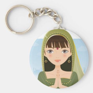Indian woman keychains