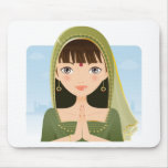 Indian woman mouse pad