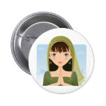 Indian woman pinback buttons