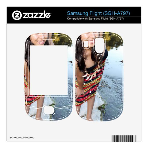 Indian Woman Samsung Flight Decal
