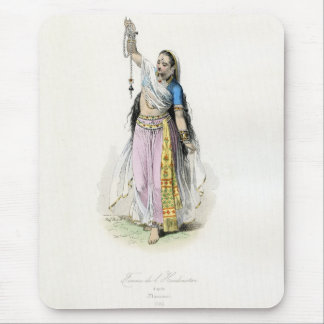 Indian Woman Traditional Costume Mouse Pad
