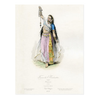 Indian Woman Traditional Costume Postcard