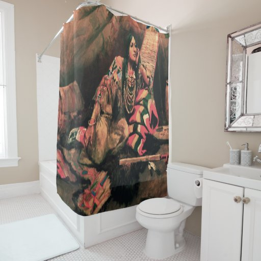 Indian WomanArt Print Shower Curtain