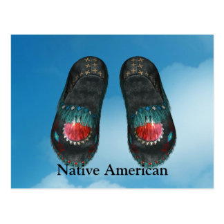 Indian Womans Moccasins Postcard