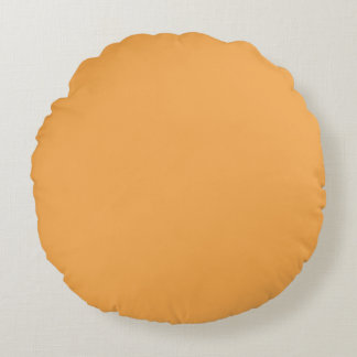 Indian Yellow Color Decor ready to customize Round Pillow