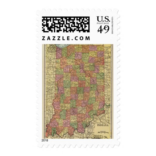 Indiana 10 postage stamp
