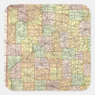 Indiana 11 square sticker