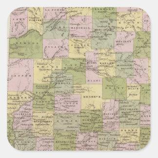 Indiana 12 square sticker