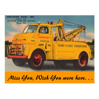 Indiana, 24 Hour Service, Jasper Postcard