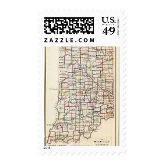 Indiana 2 postage stamp