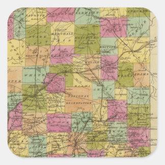 Indiana 3 square sticker