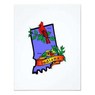Indiana 4.25x5.5 Paper Invitation Card
