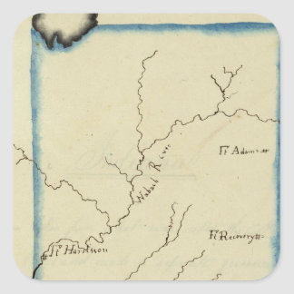 Indiana 4 square sticker